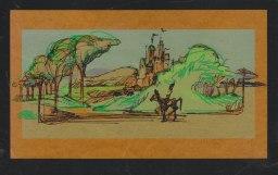 Fantasy Journey - Ink sketch on kraft paper Photoshop color   Diane Gronas