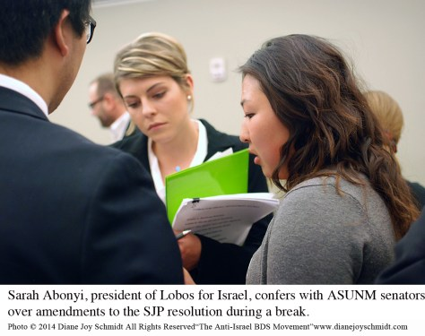 3. © Sarah Abonyi and Student Senators confer copy