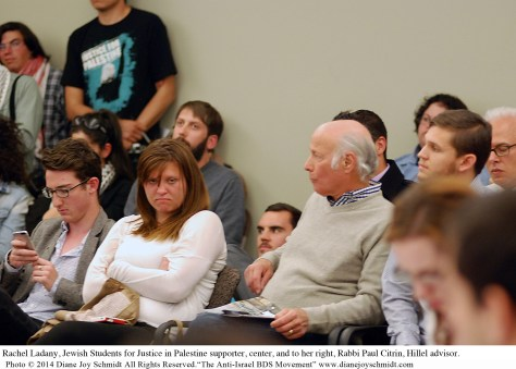 5.© Rachel Ladany, Jewish SPJ supporter, left, to right sits Rabbi Paul Citrin, Hillel supporter copy