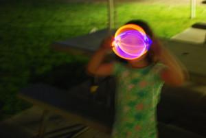 #7. Sophie, 4, sparkler experiment