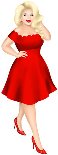 Diane Kalinowski, red dress avatar