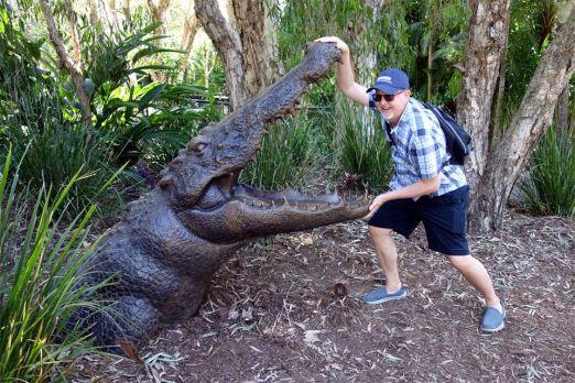 Ed fights the croc