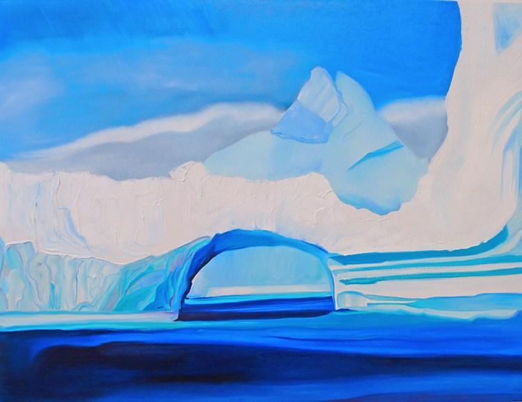 Tunnel of Ice Disko Bay Western Greenland 36x48