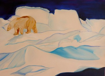 No Where Polar Bear Northern Svalbard 18x24