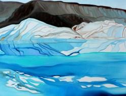 Sketch for Glacier's Edge Qaanaaq Western Greenland 18x24
