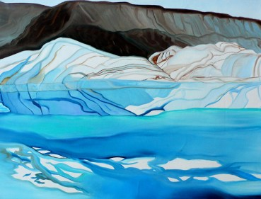 Glacier's Edge Qaanaaq Western Greenland 18x24 - Sketch and Oil on Canvas