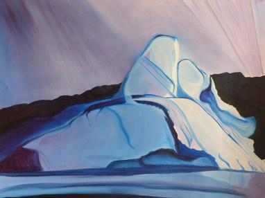Iceberg Snowcone Karrats Fjord Western Greenland 18x24