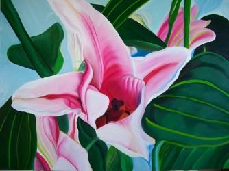Peeking Lillies 36x48