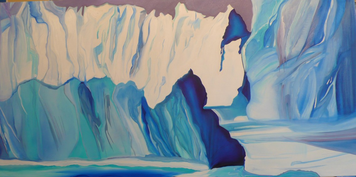 Ancient Arctic Ice Melville Bay Western Greenland 36x72