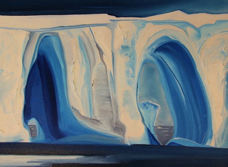 Double Trouble Iceberg 18x24