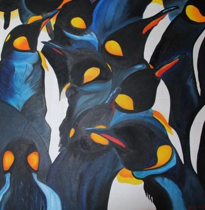 Equinox 36x36 Acrylic and Oil on Canvas Antarctica