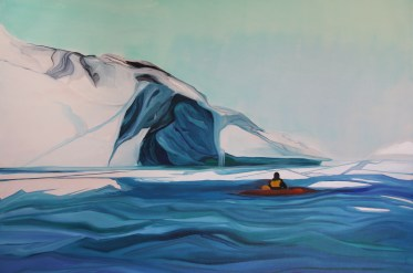 No Way Out 36x48 Acrylic and Oil on Canvas Paradise Harbour Antarctica