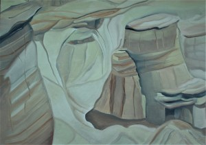 Sketch Hoodoos 18x24 Mixed media Drumheller Alberta