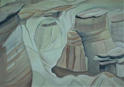 Sketch Hoodoos 18x24 Mixed media Drumheller Alberta
