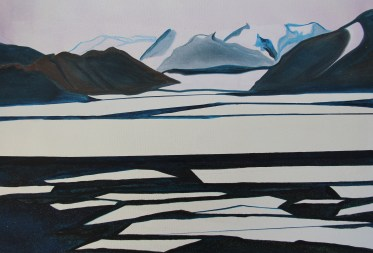 Sketch Ross Sea 18x24 Mixed Media on Canvas Antarctica