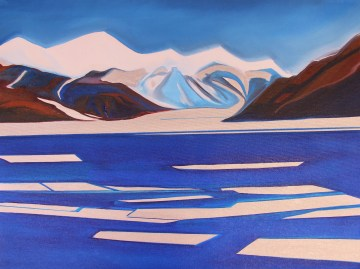 Sketch The Dry Valley Mixed Media 18x24 Ross Sea Antarctica
