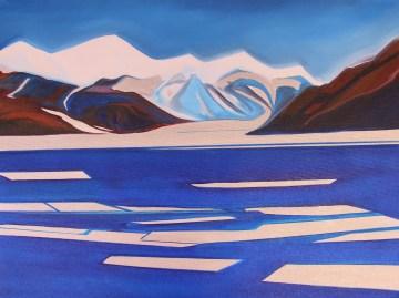 Sketch The Dry Valley Mixed Media 18x24 Ross Sea Antarctica
