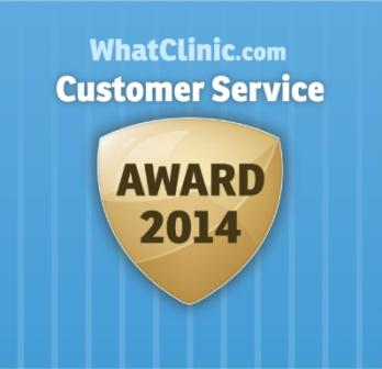 What Clinic customer service award 2014 small