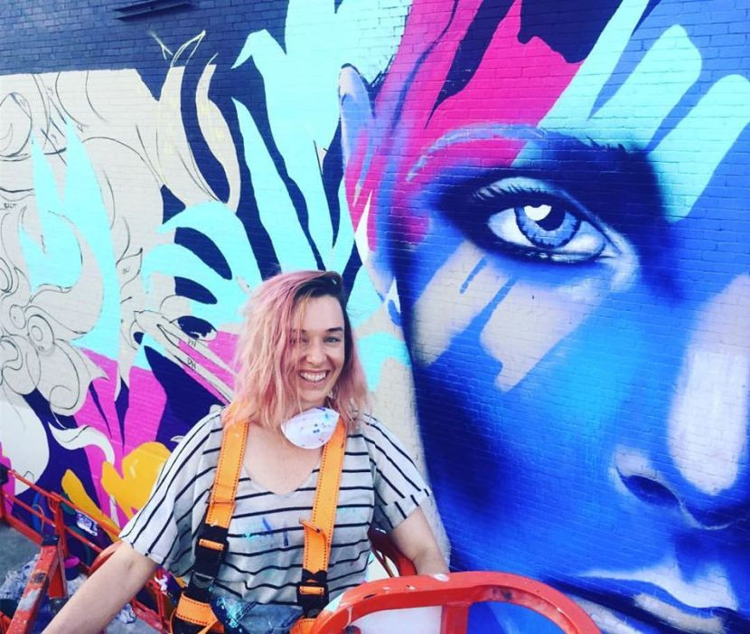 Shannon Crees lives and works in Sydney, Australia. An accomplished international artist, she creates works on canvas and paints large scale murals both locally and internationally.