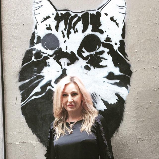 Meow! Cat stencil street art
