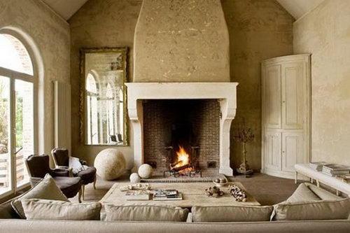 Textural open fireplace inspiration