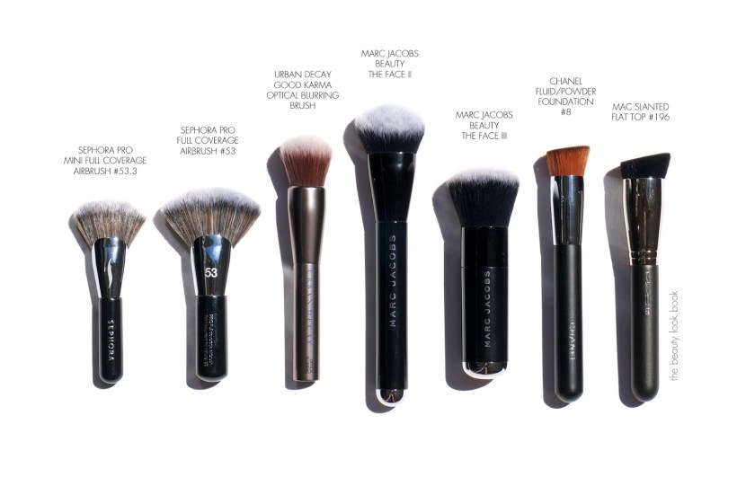 Foundation Brushes Sephora Marc Jacobs Beauty Chanel MAC Urban Decay © via The Beauty Look Book