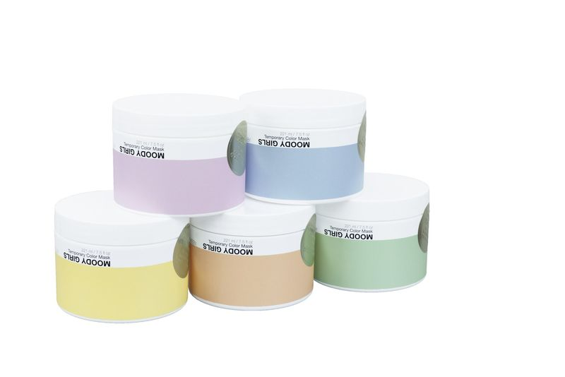 Moody Girls Temporary Pastel Hair Colour - All Shades in packaging