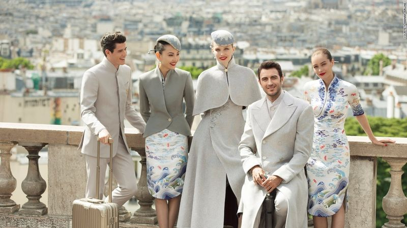 the world's most stylish fleet, premiering a haute couture uniform for its cabin crew.