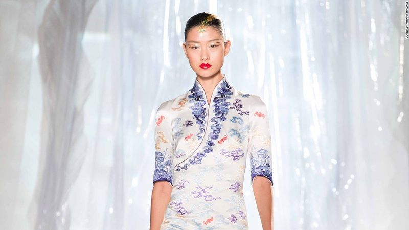 Xu's exquisite take was influenced by a look called Cheongsam