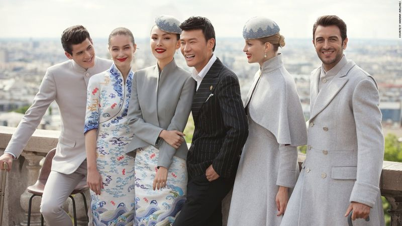 couture inspired airline uniform