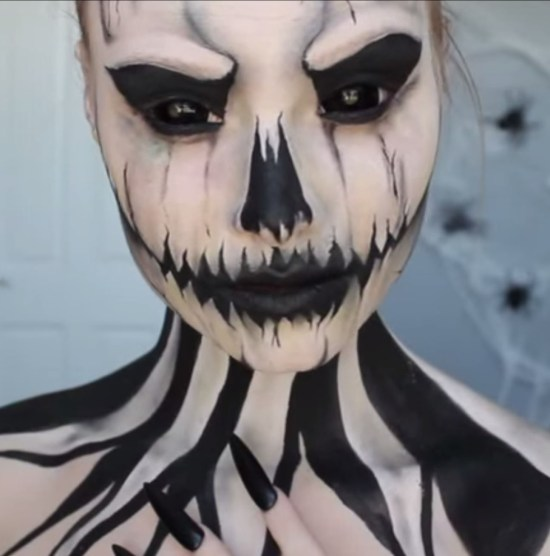 seriously scary skull makeup from goodhousekeeping