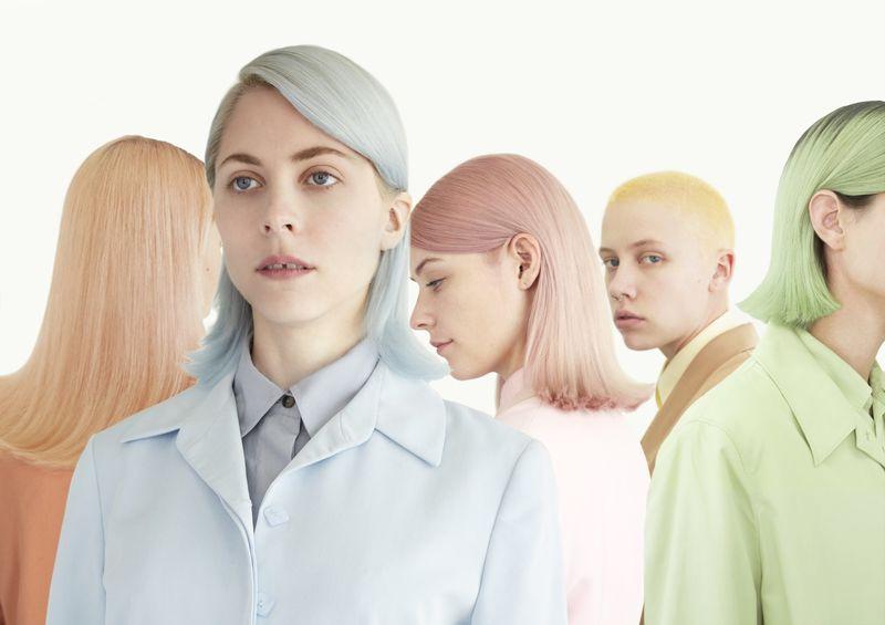 moody girls pastel hair colour