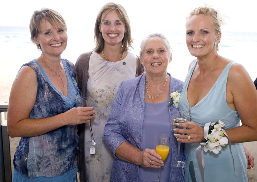 Katie, her sisters and mum