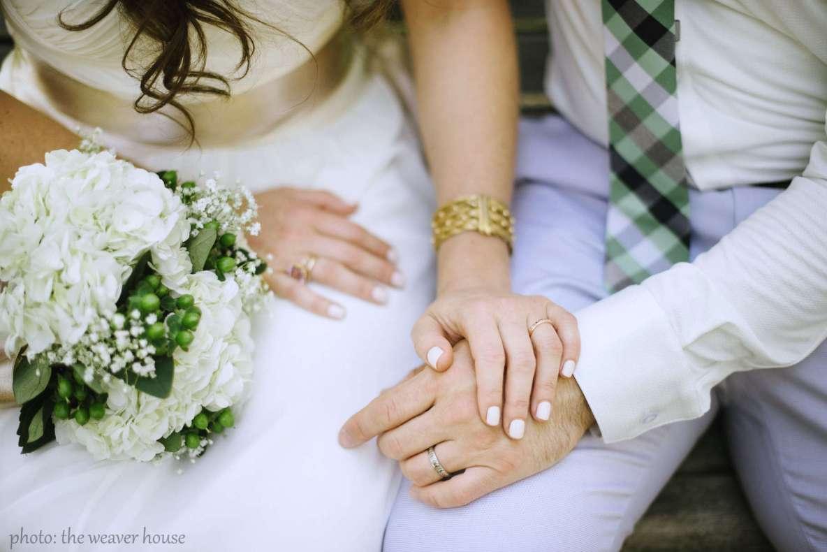 Diane Sanfilippo & Scott Mills wedding - photo by The Weaver House