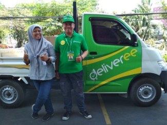 Salh satu armada Deliveree Surabaya