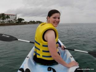 Diane on the kayak