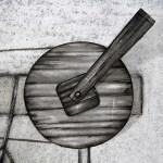 Détail Le T de Tremblay - Exposition Tissage et mécanisme