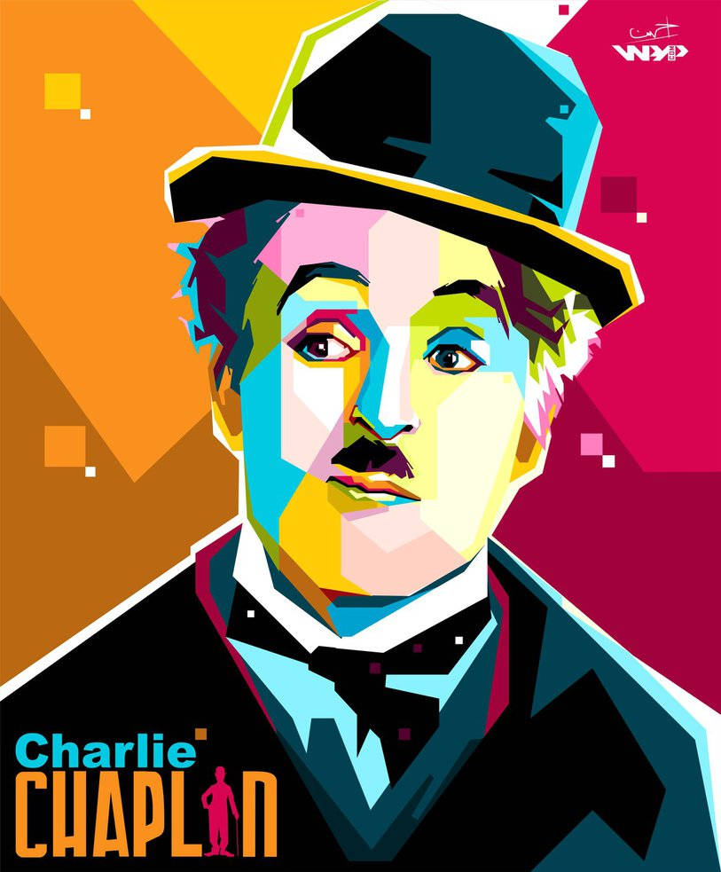 Foto WPAP Charlie Chaplin