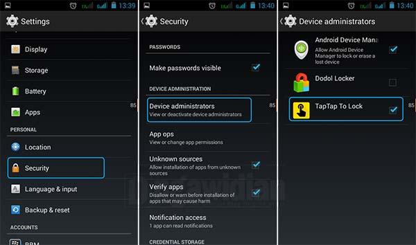 Mengunci Layar Android Tanpa Menekan Tombol Power