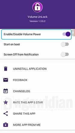 Menyalakan dan Mematikan Layar Android Dengan Volume Unlock