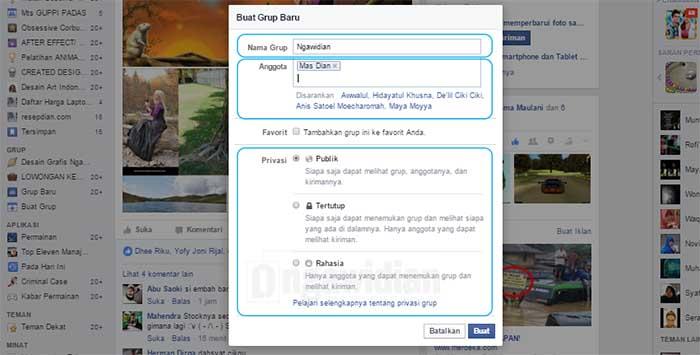 Cara Buat Grup Facebook