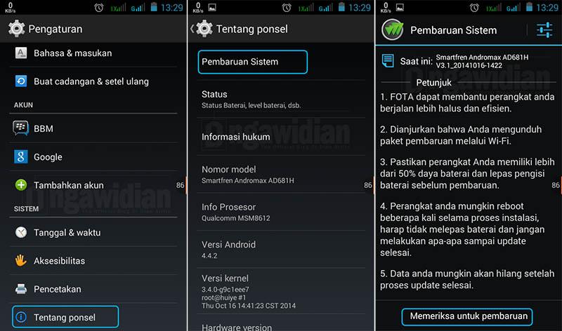 Cara Melakukan Upgrade Android Ke Versi Terbaru