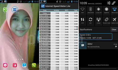 Menampilkan Speed Internet di Status Bar