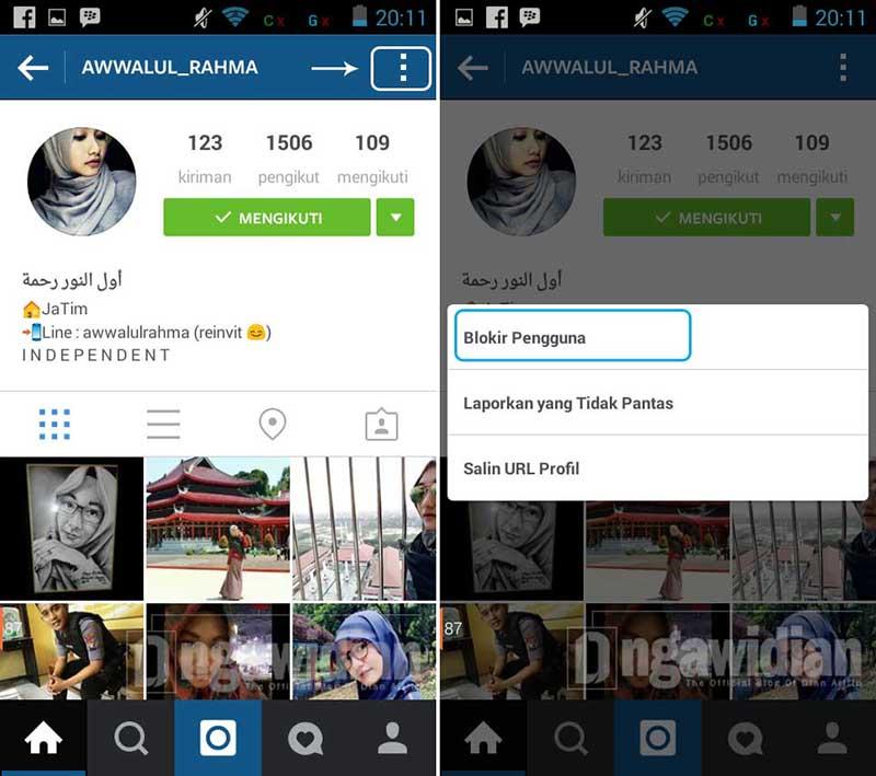 Cara Blokir Teman di Instagram