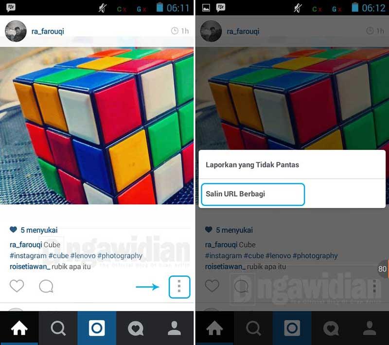 Cara Unduh Foto Instagram