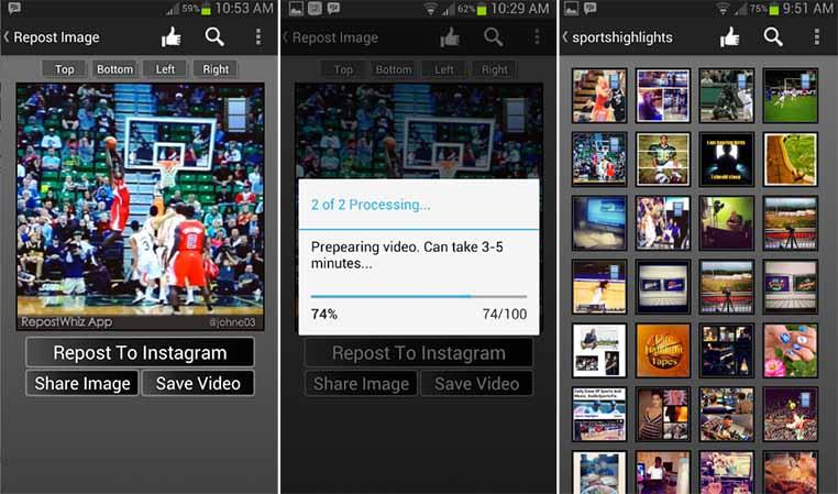 Download Aplikasi RepostWhiz Repost Video Photos