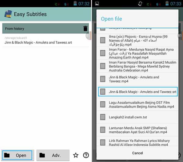 Cara Edit Subtitle di Android 1