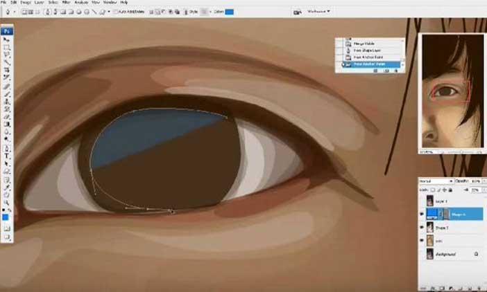Membuat Vector Mata Dengan Photoshop 5