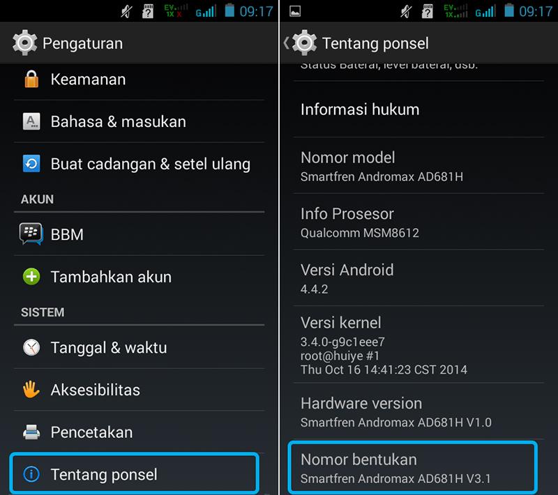 Cara Enable USB Debugging Android