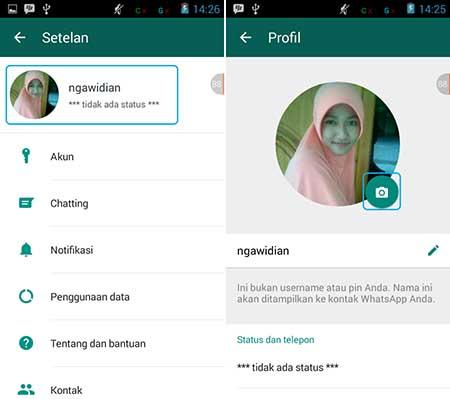 Cara Ganti Foto Profil WhatsApp